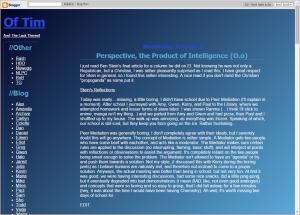 Blog design circa 2004