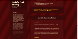 Blog design, circa 2015