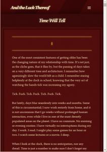 Blog design circa 2015