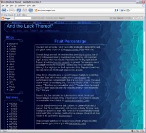 Blog design circa 2005