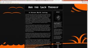 Blog design circa 2010